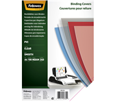 VOORBLAD FELLOWES A4 PVC 240MICRON TRANSPARANT