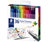 FINELINER STAEDTLER TRIPLUS 334 0.3MM 24+10 GRATIS ASS