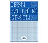MILLIMETERBLOK CANSON A3 90GR BLAUW