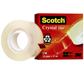 PLAKBAND 3M SCOTCH 600 19MMX33M CRYSTAL CLEAR