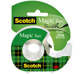 PLAKBAND 3M SCOTCH 19MMX25M MET TAPEHOUDER MAGIC