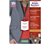 BADGE AVERY 4834 A6 + INSTEEKKAARTEN + LANYARD