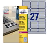ETIKET AVERY L6011-20 63.5X29.6MM 540ST ZILVER