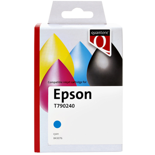 INKCARTRIDGE QUANTORE EPSON T790240 HC BLAUW