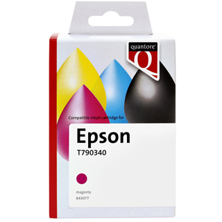 INKCARTRIDGE QUANTORE EPSON T790340 HC ROOD