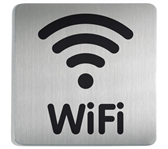 INFOBORD PICTOGRAM DURABLE WIFI VIERKANT 150MM