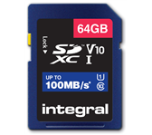 GEHEUGENKAART INTEGRAL SDHC V10 64GB