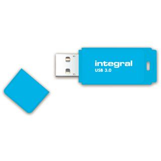 USB-STICK INTEGRAL 64GB 3.0 NEON BLAUW