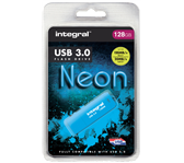 USB-STICK INTEGRAL 128GB 3.0 NEON BLAUW