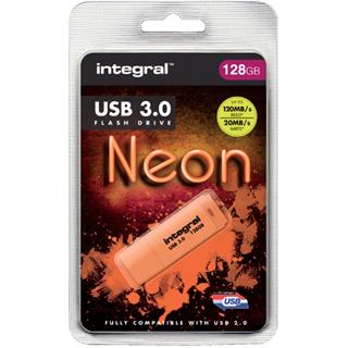 USB-STICK INTEGRAL 128GB 3.0 NEON ORANJE