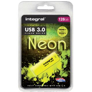 USB-STICK INTEGRAL 128GB 3.0 NEON GEEL