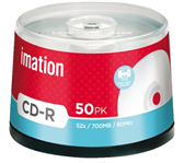 CD-R IMATION 700MB 52X PRINTABLE SPINDEL