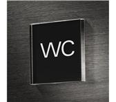 INFOBORD PICTOGRAM SIGEL WC 85X85X85MM
