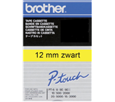 LABELTAPE BROTHER TC-601 12MMX8M GEEL/ZWART