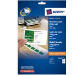 VISITEKAART AVERY ZWECK C32011-25 85X54MM 250ST