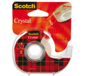 PLAKBAND 3M SCOTCH 19MMX25M MET TAPEHOUDER CRYSTAL
