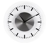 WANDKLOK UNILUX KLOK ON TIME 30.5CM GRIJS
