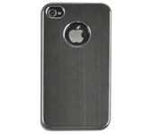 HOES CASE IPHONE 4/4S ALUMINIUM FINISH ZWART