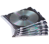 CD DOOS FELLOWES SLIMLINE TRANSPARANT