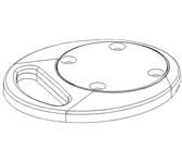 LCD BUREAUDOORVOER NEWSTAR FPMA-D9GROMMET