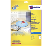 ETIKET AVERY CD C9660-8 HOOGGLANS 16ST