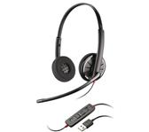 HEADSET PLANTRONICS USB C320 BLACK WIRE
