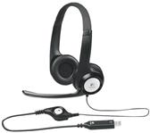 HEADSET LOGITECH H390 ON EAR USB ZWART