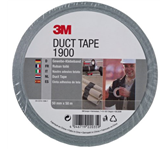 PLAKBAND 3M SCOTCH 1900 50MMX50M DUCT TAPE ZILVER