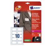 NAAMBADGE ETIKET AVERY L4785-20 80X50MM 200ST ZELFKL