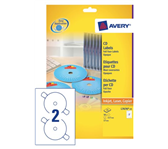 ETIKET AVERY CD L7676-25 LASER INKJET OPAAK