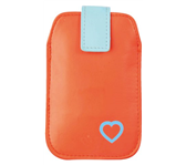 HOES POUCH UPP PHONE HART ROOD/BLAUW