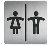 INFOBORD PICTOGRAM DURABLE VIERKANT WC D/H 150MM