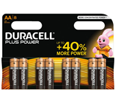 BATTERIJ DURACELL AA PLUS POWER ALKALINE 8-PACK