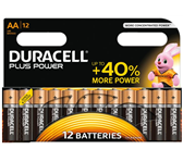 BATTERIJ DURACELL AA PLUS POWER ALKALINE 12-PACK