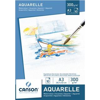 AQUARELBLOK CANSON A3 10V 300GR
