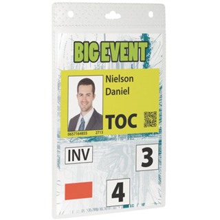 BADGE DURABLE EVENT A6 TRANSPARANT