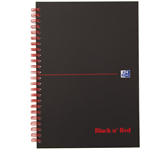 NOTITIEBOEK OXFORD BLACK AND RED A5 RUIT KARTON
