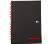 NOTITIEBOEK OXFORD BLACK AND RED A5 KARTONM RUIT
