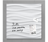 GLAS-MAGNEETBORD SIGEL 480X480X15MM WHITE WAVE