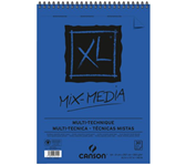 AQUARELBLOK CANSON XL MIX MEDIA A4 300GR 30V SPIR