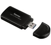 CARDREADER HAMA USB 3.0 SD MICRO SD ZWART