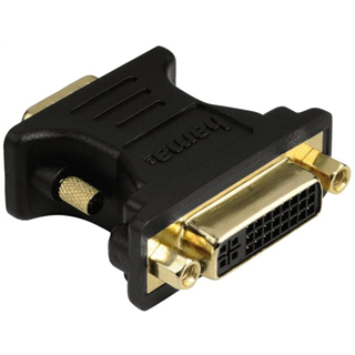 ADAPTER HAMA VGA PLUG DVI SOCKET GOLD-P BLAUW
