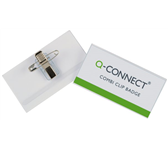 BADGE Q-CONNECT CLIP + SPELD 75X40MM