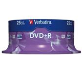 DVD+R VERBATIM 4.7GB 16X 25PK SPINDEL