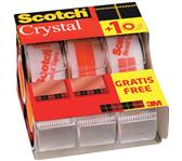 PLAKBAND 3M SCOTCH CRYSTAL 19MMX7.5M 2+1 GRATIS