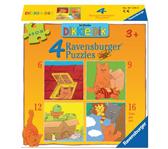 PUZZEL RAVENSBURGER DIKKIE DIK 4XPUZZELS 6+9+12+16ST