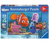PUZZEL RAVENSBURGER FINDING NEMO ONTSNAPT 2X12ST