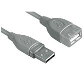 KABEL HAMA USB 2.0 A-A VERLENG 1.8M GRIJS