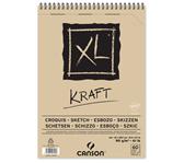 SCHETSBLOK CANSON XL KRAFT A4 SPIRAAL 60V 90GR