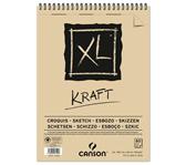 SCHETSBLOK CANSON XL KRAFT A3 SPIRAAL 60V 90GR